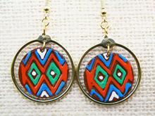Brass & Leather Earings