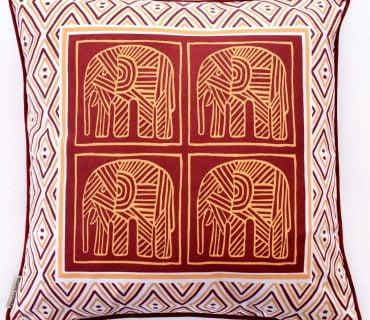 Cushion Cover - Screen Printed Elephant