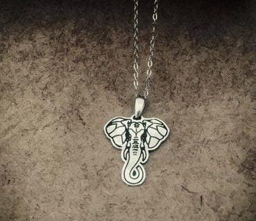 Elephant Head - Sterling Silver