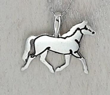 Horse running - Sterling Silver