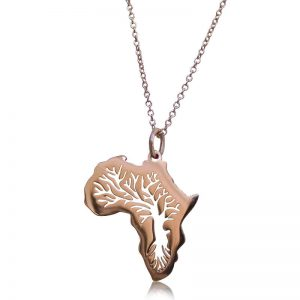 African Meraki - African Gifts - Africa Tree of Life Sterling Silver Necklace