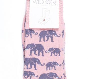 Wild Socks - Elephant Pink