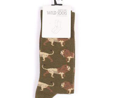 Wild Socks - Lions Olive