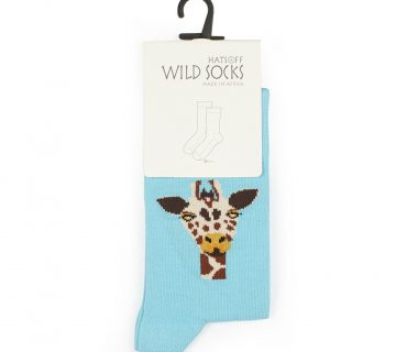 Wild Socks - Giraffe Blue