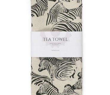 Tea Towel - Zebra Natural