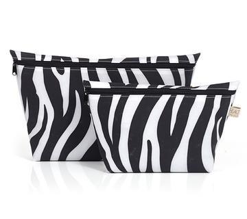Toiletry Bag Set - Zebra Print