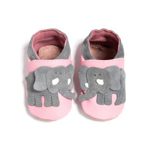 Leather Elephant Shoes Pink