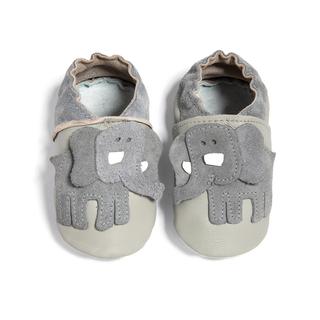 Leather Elephant Shoe Grey