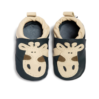 Children's Leather Shoe Navy Giraffe
