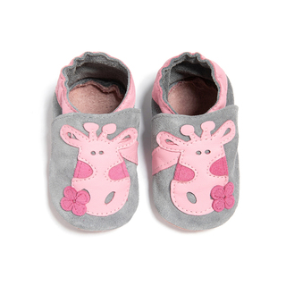 Leather Giraffe Shoes Pink/Grey