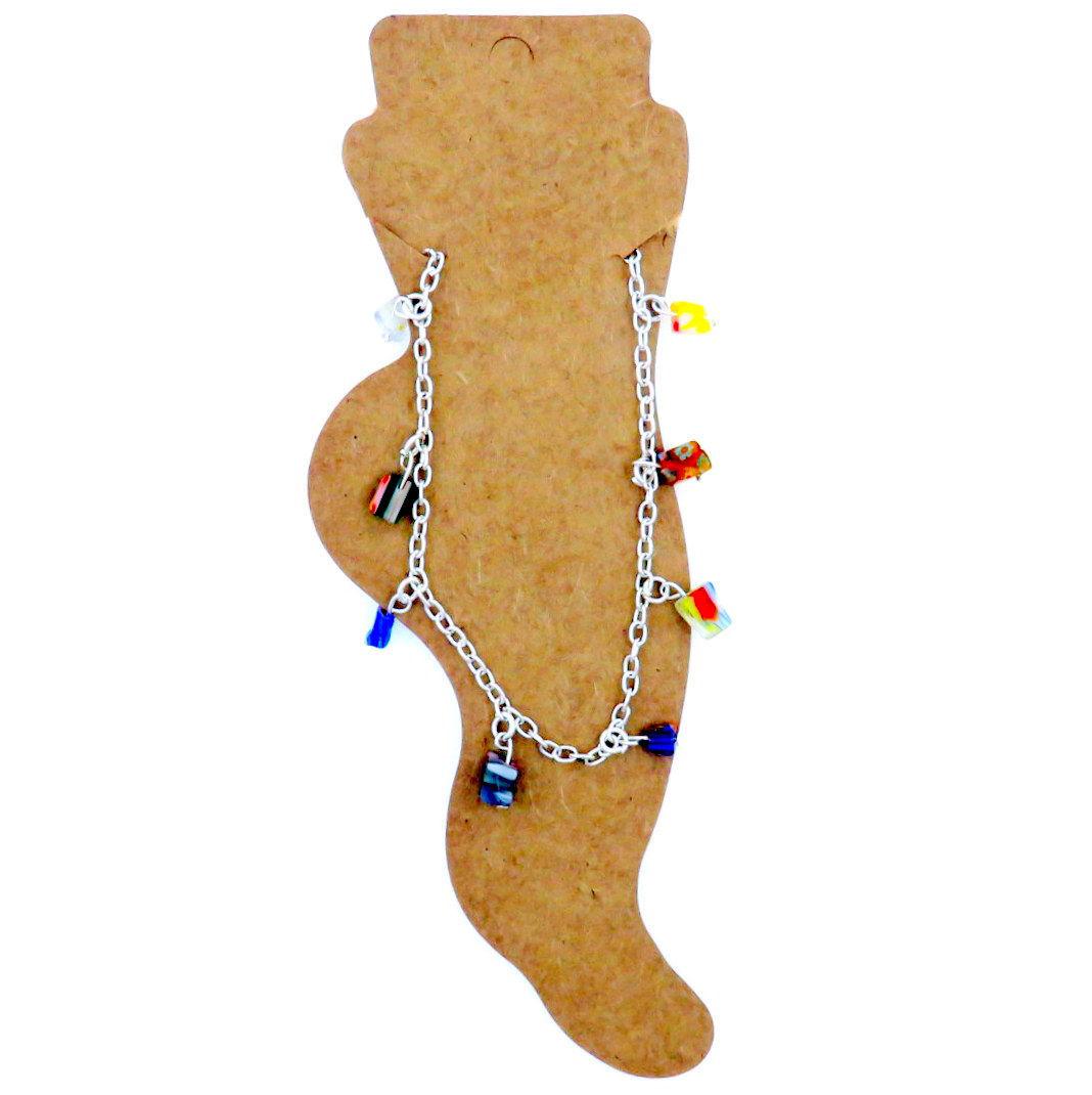 Anklet Multicoloured Gemstones